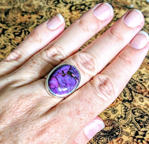 Purple Mojave Turquoise Ring,  Size 7.5 US, GENUINE, UNIQUE, New! South Brisbane Brisbane South West Preview