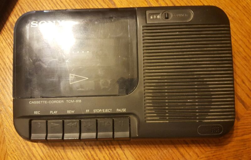 Sony Cassette-Corder TCM-818 Cassette Recorder Black