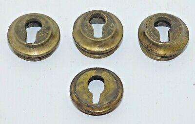 Four screw in antique furniture keyholes escutcheons (FH270)