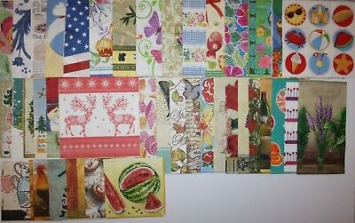 BIG LOT 40 paper napkins for decoupage & flowers animals christmas butterfly etc