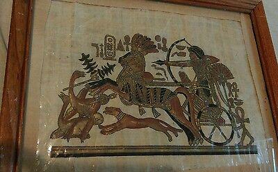 Ancient Egyptian Nefertiti Handmade Papyrus Painting Egypt  has certificate ()