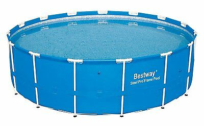 "Bestway 15' x 48"" Steel Pro Frame Above Ground Swimming Pool 