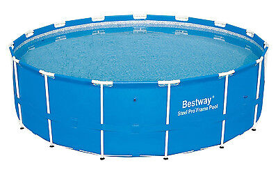 "Bestway 15' x 48"" Steel Pro Frame Above Ground Swimming Pool Set 