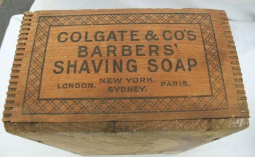 Antique Wood Dovetail Box Crate Colgate & Co