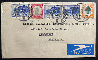 1935 Port Elizabeth South Africa Airmail Cover To Melbourne Australia
