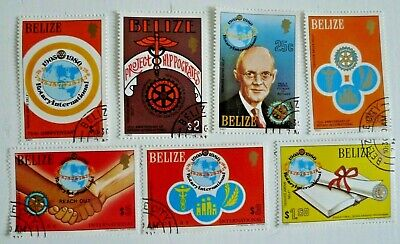 BELIZE ROTARY SCOTT 538-44 COMPLETE SET  USED CAT $ 40.00