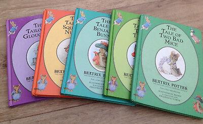 Beatrix Potter Bundle  5 Books lovely illustrations - ideal bedtime stories USED