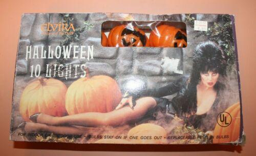 Vintage Elvira Halloween Jack O Lantern Pumpkin Plastic String Lights