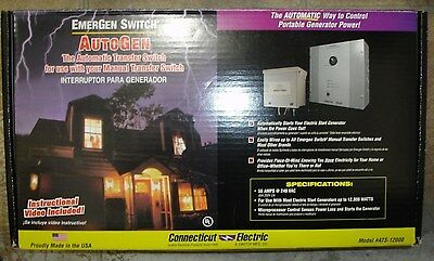 New Emergen Automatic Generator Transfer Switch Kit 50 Amp Ats-12000 Ships Today