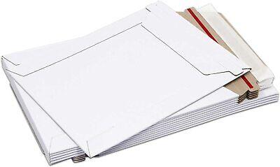50 - 6 X 8 White Cddvd Photo Ship Flats Cardboard Envelope Mailer Mailers