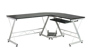 Computer Desk L-shape Desk Office Home Workstation Corner Pc Laptop Table Set