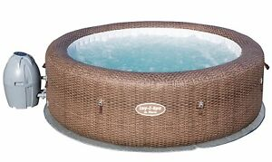 NEW Bestway Lay-Z-Spa St Moritz Airjet Inflatable 5-7 Person Hot Tub - Brown