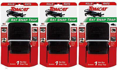 (3 PACK) Tomcat High Impact Rat Snap Trap Reusable Effectively Kill Rats -