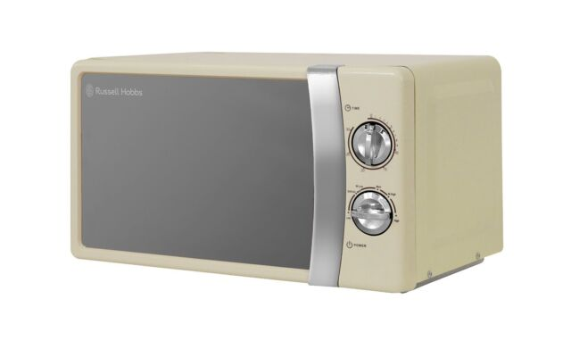 NEW Russell Hobbs 17L 700W Manual Countertop Microwave Oven, Cream - FREE P&P