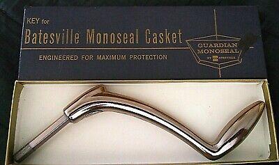 Old Vintage Batesville Monoseal Bronze Casket Key in Original Box