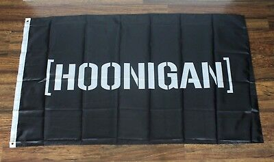 Hoonigan Racing Banner Flag Motor Sports Automotive Motorsports Rally Team 3x5