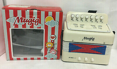 Mugig Kids Accordion White Mini Musical Instrument For Kids