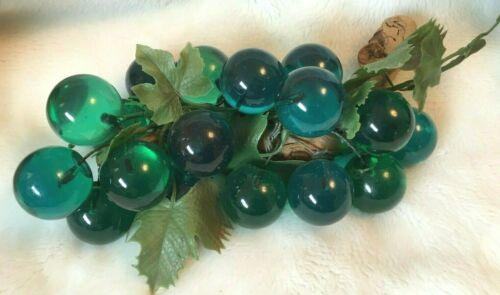 VTG LG Vintage Lucite Acrylic BLUE GREEN Grape Cluster Mid-Century Modern MCM