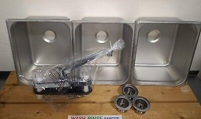 Drop In 3 Compartment Sink Set Free Gifts For Portable Concession Stands