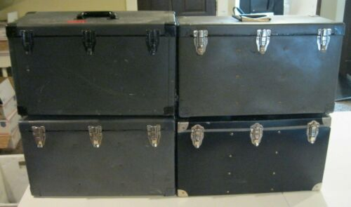 """Lot of 4 Vintage 21"""" x 13"""" x 9"""" View Camera Large Format Camera Carrying Cases"""