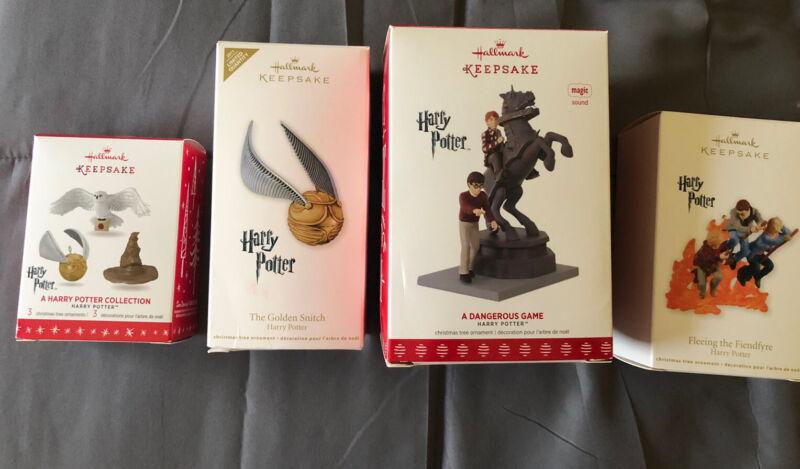 4 Harry Potter Hallmark Ornaments