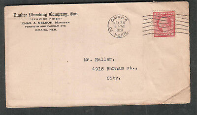1919 cover Dundee Plumbing Company Inc Omaha NE to Charles W haller in-city](Party City Omaha)