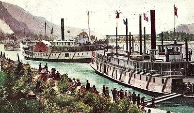1908 Excursion Boats On Line O. R. & N. Columbia River, OR Postcard P117