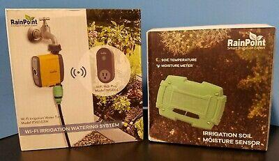 RAINPOINT Sprinkler Timer WiFi Hose Timer & Bluetooth Soil Moisture Meter - NEW