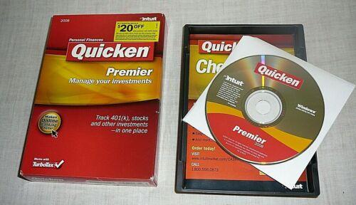 Intuit Quicken Premier 2008 For Windows Disc Software Personal Finances