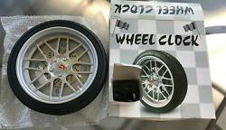 Car Wheel Clock with back lights (NOS)