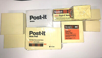 Post It Notes Lot 8 New Packs And Various Opened Used
