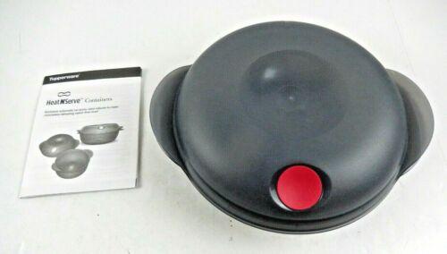 Tupperware Black  Round Heat N Serve  0.7L 5434A