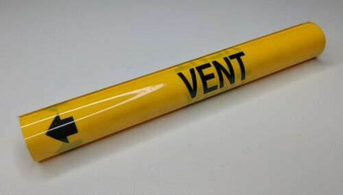 "VENT Coiled Pipe Marker - 1-1/8"" thru 2-1/4"" - wrap marking style b"