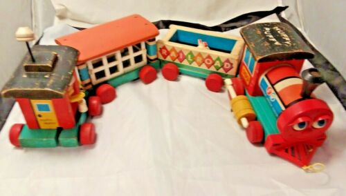 Vintage Fisher Price Huffy Puffy Train #999 Complete Works Well