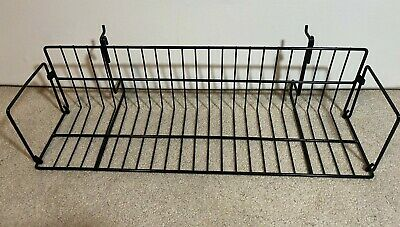Used 24 X 6 X 6.5 Black Wire Gridslat Wall Dvdcomicvideo Game Shelf Retail