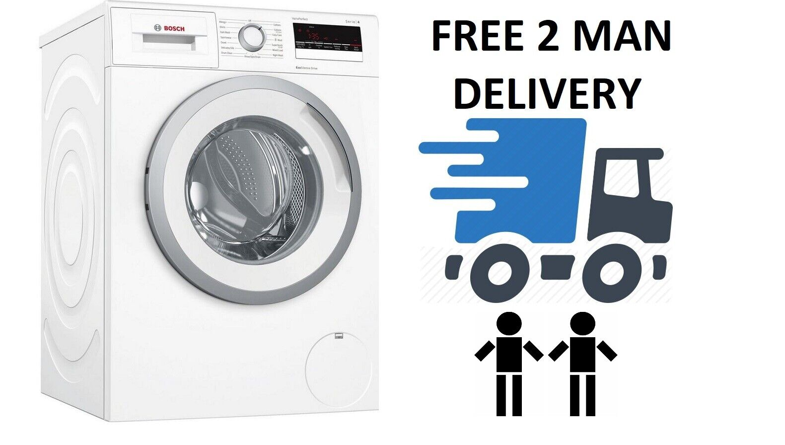 Bosch WAN28201GB Serie 4 8kg 1400 Spin White Washing Machine + 2 Year Warranty