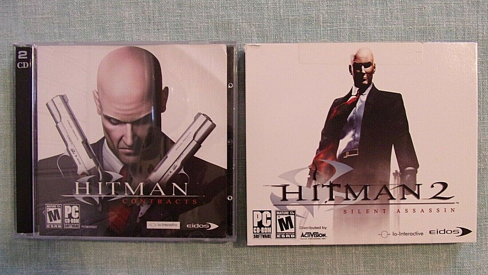 Computer Games - HITMAN & HITMAN 2: Silent Assassin PC/Computer Game CD-ROM