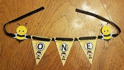 One Year Old Party Decorations (Bee Banner