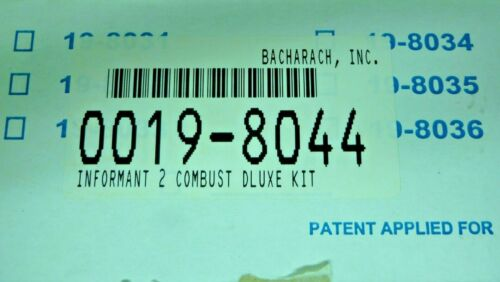 BACHARACH 19-8044 INFORMANT 2 COMBUSTIBLE GAS DELUXE KIT