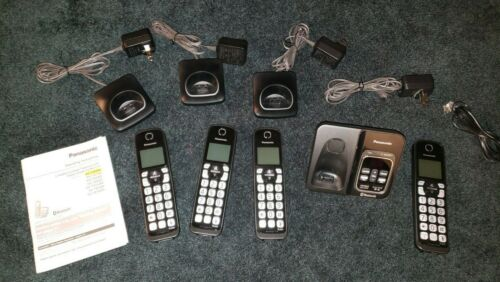 Panasonic KX-TGD560 Cordless Phone System w/ Link2Cell Blutooth & 4 Total Phones