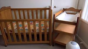 Quality Timber Cot, Inner Spring Mattress & Matching Change Table Muswellbrook Muswellbrook Area Preview