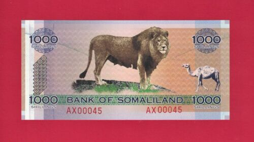 1000 SHILLINGS 2006 BANK OF SOMALILAND Low Serial # (P-CS1a) - COLLECTOR
