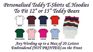 Teddy Clothes T Shirts & Hoodies Personalised Fit 12