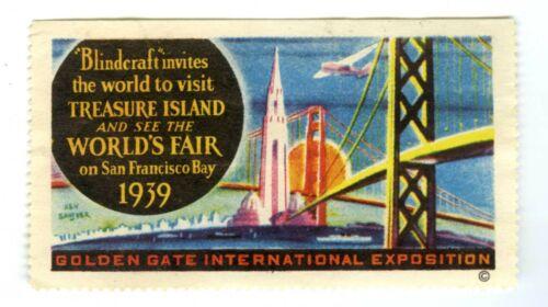 1939 GGIE SAN FRANCISCO TREASURE ISLAND GOLDEN GATE INTL EXPO~WORLD