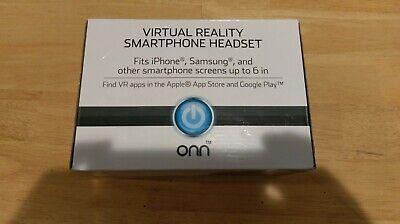 ONN Virtual Reality SmartPhone Headset - white