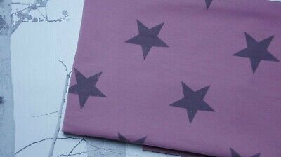 Star French Terry knit jersey fabric stretch cotton spandex purple kids stars