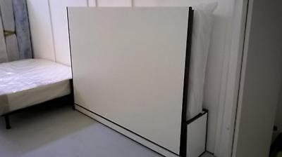 Horizontal 90cm x 200cm Panel wall bed (panelled wallbed, Murphy bed)