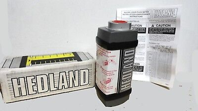 Hedland Oil Petroleum Flow Meter Aluminum Pn H701a-005 New In Box