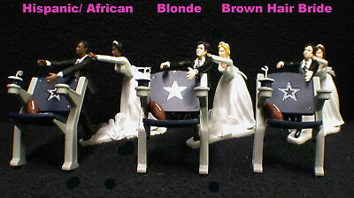 Dallas Cowboy Football Wedding Cake Topper Funny Groom top Anniversary Shower 3