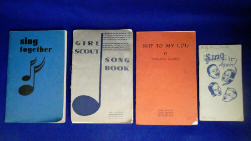 VINTAGE GIRL SCOUT SONG BOOKS 1929,1936, 1940